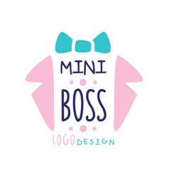 Mini boss logo original design abstract suit vector