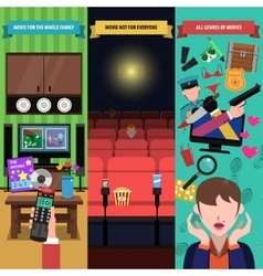 Movies Banner Set vector image vector image