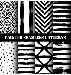 painted pattern set vector image vector image
