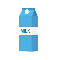Paper packet with milk vector