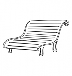 park bench contours vector image vector image