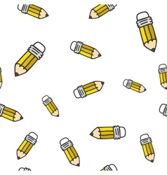 Pencil seamless color pattern vector image