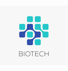 Pharmaceutical and medical concept logo vector