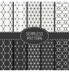 Set of geometric abstract seamless polygon pattern vector image