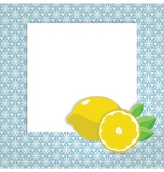 Universal page layout with lemon icon recipe or vector