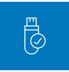 USB flash drive line icon vector image vector image
