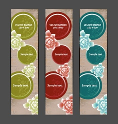 Vertical Floral Banner Bookmark background vector image vector image