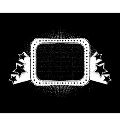 vintage neon sign vector image vector image