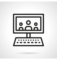 Webinar black line design icon vector image