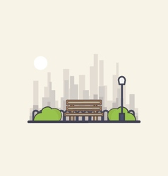 Park on a background of the city vector