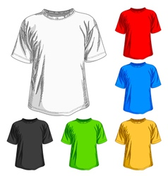 set of shirts vector image