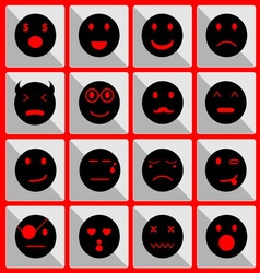 Feeling face icons on the button vector