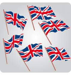 Six uk flags vector