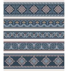 Set of borders frames with ancient ornaments vector