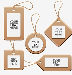 LabelCardboardSetCollection vector image