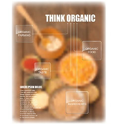 organic food theme template vector image