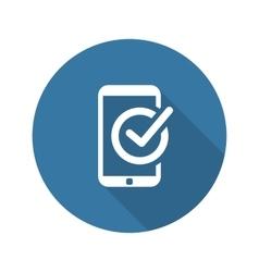 Mobile Register Icon Online Learning Flat Design vector image
