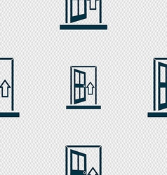 Door enter or exit icon sign seamless abstract vector