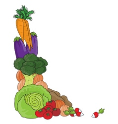 Vegetable border vector