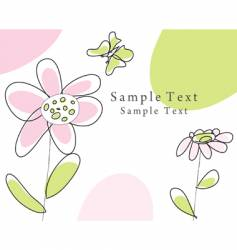 Sketch greeting card vector