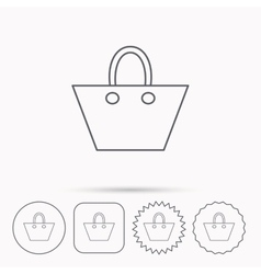 Ladies handbag icon elegance women accessory vector