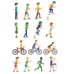 Sport People Set Man and Woman vector image