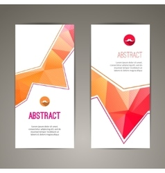 Set of polygonal triangular colorful geometric vector