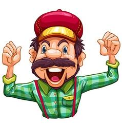 A lumberjack cheering vector