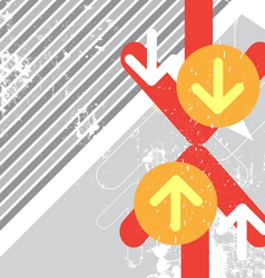 arrow crash battle with grunge background vector image vector image
