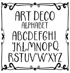 Art deco hand-written roman alphabet vector