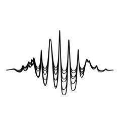 Audio equalizer soundwave icon simple black style vector