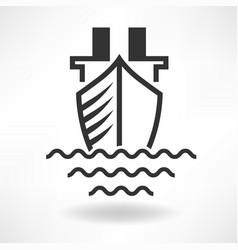 Boat simple icon vector