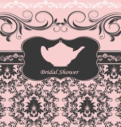bridal shower invitation vector image vector image