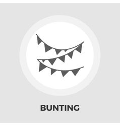 Bunting flat icon vector image vector image