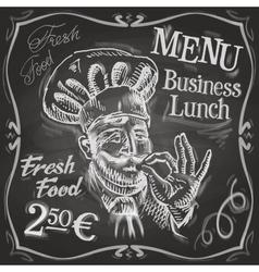 chef cook logo design template snack bar vector image