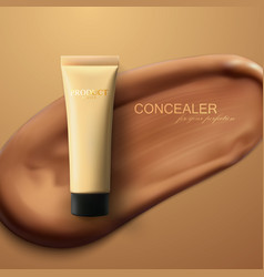 concealer cream package vector image vector image