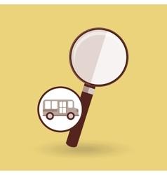 Concept bus school search desing vector