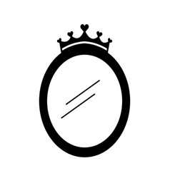 Crown mirror princess decoration accessory vector