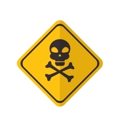 danger yellow sign vector image
