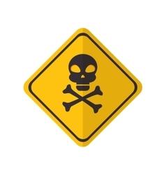 Danger yellow sign vector