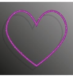 Frame pink sequins heart glitter sparkle vector