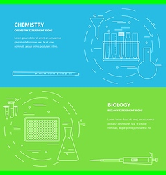lab chemistry biology vector image