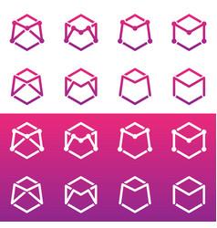 letter m logo design vector image vector image