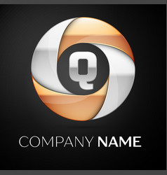 letter q logo symbol in the colorful circle on vector image vector image