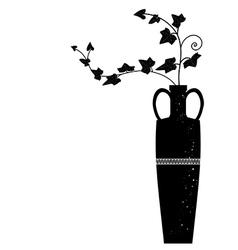 Meander vase with ivy vector