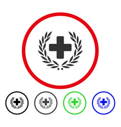 medical glory rounded icon vector image