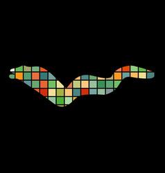 moray mosaic color silhouette aquatic animal vector image