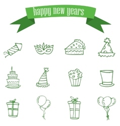 New year element of icons vector