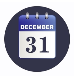 New-year sheet desk calendar blue color vector