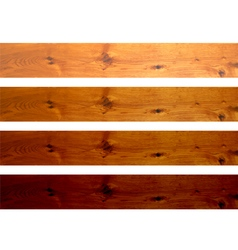 Oak boards vector image vector image